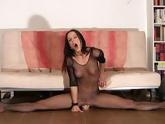 Flexible Gymnast Rides Dildo & Multiple Orgasms tube porn video