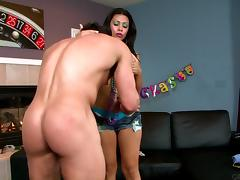 Cassandra Cruz riding Tyler Black's hot cock hardcore doggystyle tube porn video
