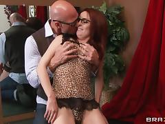 Redhead dame getting nasty facial cumshot after being drilled hardcore tube porn video