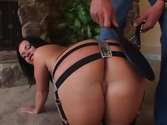 Katja Kassin allows a guy to spank her butt and drill it doggystyle tube porn video