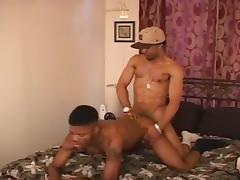 Ebony hunks slamming each other on the bed tube porn video