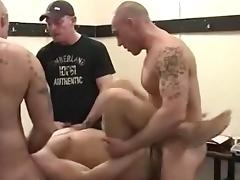 Well-endowed hunks in kinky gay anal action tube porn video