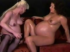 pregnant lesbians milking and playing tube porn video