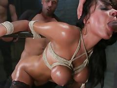 Anal gang bang in prison for busty Anissa Kate tube porn video