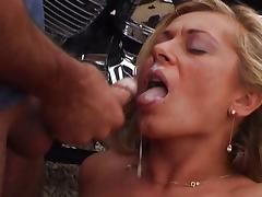 Naughty MILF biker fuck for a safe ride tube porn video