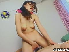Asian babe with a sweet ass gets to fuck wildly tube porn video