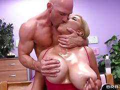 Her monster tits jiggle as she bounces up and down on his cock tube porn video