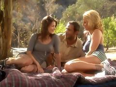 Jenni Lee and Brooke Belle Threesome Picnic tube porn video