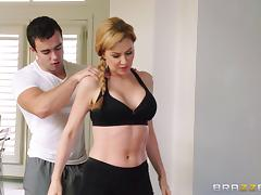 Aerobic instructor gets a little carried away, all the way tube porn video
