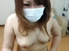 Japanese young cute shaved Mao shows pussy tube porn video