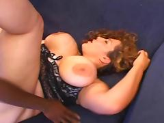 Huge boobed BBW interracial anal tube porn video