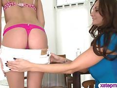 Milf Ava Adams threesome session on sofa with teen couple tube porn video