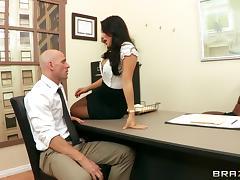Slutty secretary Asa Akira fucked in the ass by a big cock tube porn video
