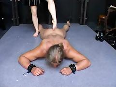 Blonde German mistress with strapon tube porn video