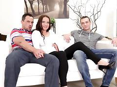 Bisexual pornstars enjoy a savory mmf threesome action tube porn video