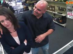 Customers wife pounded by nasty pawn man at the pawnshop tube porn video