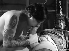 A wild girl fucks Frankenstein and cums on his monster rod tube porn video