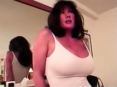 Magnificent busty black brown cougar can't live out of anal sex on web camera tube porn video