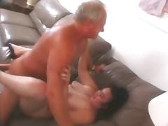 Chubby hairy chick fucked by an older guy tube porn video