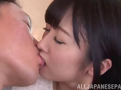 Flirty Asian cutie swallows cum after getting her hairy cunt drilled tube porn video