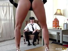 lezley zen takes some time out from work to fuck tube porn video