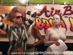 SpringBreakLife Video: Fantasy Fest Body Paint tube porn video