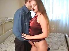 Nerdy girl gets her shaved cunt rammed hard until she cums tube porn video