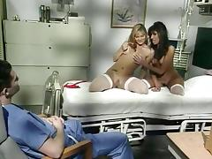 Barett Moore, Tawny Ocean, Chris Cannon in 1980s porn shows hard hospital threesome scene tube porn video