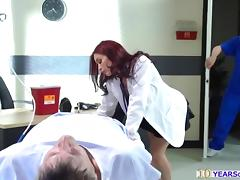 Slutty Doctor Monique Alexander seduces nurse into anal sex tube porn video