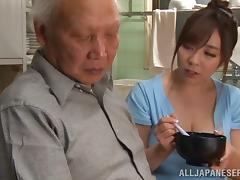Big boobs Asian pornstar fucks a horny old chap hardcore tube porn video