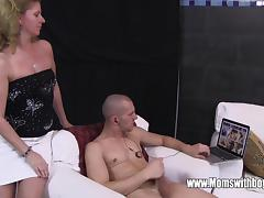 Stepson Caught Masturbating By His Blonde Horny Stepmom tube porn video