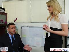 Sexy office babe Mia Malkova fucking tube porn video