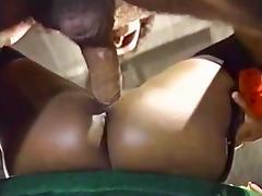 Domonique Simone, Derek Lane, Randy West in Ron Jeremy fucking big breasted ebony babe tube porn video