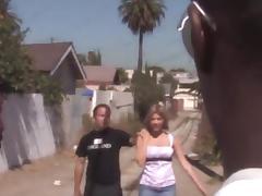 Leah Livingston enjoys ardent interracial MMF pounding tube porn video