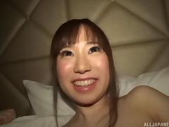 Hairy pussy Japanese babe turned on with a vibrator & fucked deep tube porn video