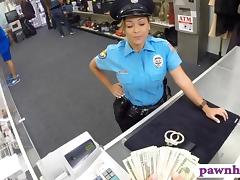 Ms police officer with big boobs gets fucked at the pawnshop tube porn video