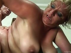 Horny granny breaks a sweat on her much younger stud's cock tube porn video