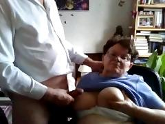 Old couple from UK plays on chatroulette tube porn video