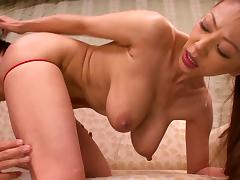 Big tits Japanese milf is flexible when he fucks her cunt tube porn video