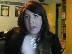 BBW Crossdresser Strips Jerks Cums tube porn video