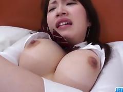 Shizuku Morino busty angel devours cock in nasty ways tube porn video