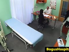 Hospital milf fucked by doctor on hidden cam tube porn video