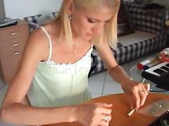 Katerina Sz. in hardcore sex scene with an amateur hot blonde tube porn video