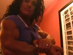 Debbie Bramwell sexy muscle tube porn video