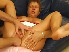 French mature loves painful anal tube porn video