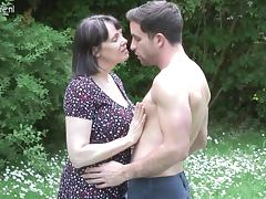 Big breasted British MOM fucking not her son tube porn video