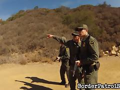 Border patrol officers lay the pipe to a hot chick they caught tube porn video