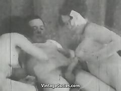 Girl Helps Older Couple Have Sex (1930s Vintage) tube porn video