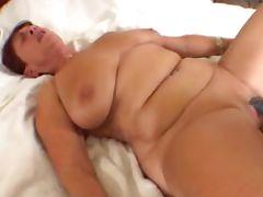 Granny in White Loves Black tube porn video