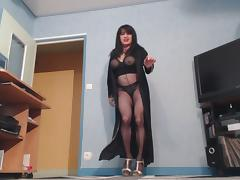 beurette en lingerie tube porn video